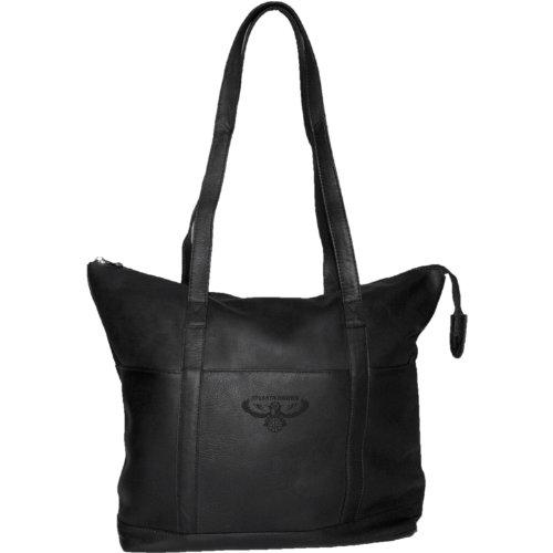 NBA Atlanta Hawks Pangea Black Leather Women's Tote Handbag by Pangea Brands