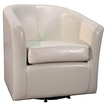 Amazon.com: Hebel Hayden Swivel Leather Accent Chair | Model CCNTCHR ...