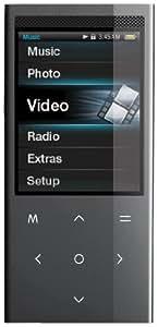 Coby MP768 - Reproductor MP3 (Reproductor de MP3, Negro, Digital, Flash-media, 4 GB, TFT)