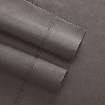 Columbia Organic Cotton Sateen Weave Performance Sheet Set - 300TC with Omni-Wick Moisture Wicking Stay Dry Technology - 100% GOTS Certified Organic Cotton - Queen 4-Piece Sheet Set, Stratus Grey