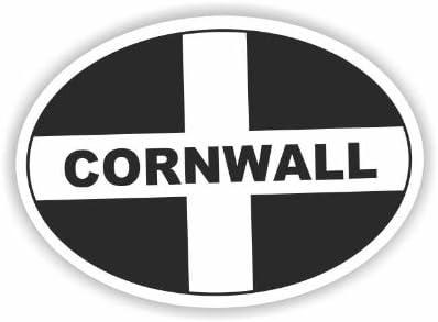 Sea View Stickers Cornwall Adesivo ovale per auto
