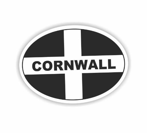 Sea View Stickers Cornwall Oval Car Sticker