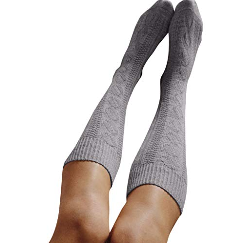 Gorgeous Women Knee High Socks - Zakally Christmas Gifts,Womens Gorgeous Soft Fluffy,Girls Ladies Thigh High Over The Knee Socks Long Cotton Stockings Warm