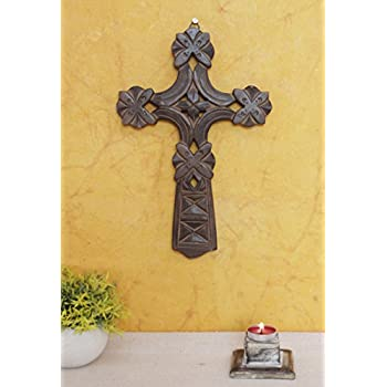 Amazon.com: The StoreKing Wooden Wall Hanging French Cross 12\
