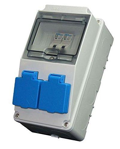 ELO5/1 Baustromverteiler / Wandverteiler 2 SCHUKO 230V -16A + 2 x MCB C 16A AW-Tools