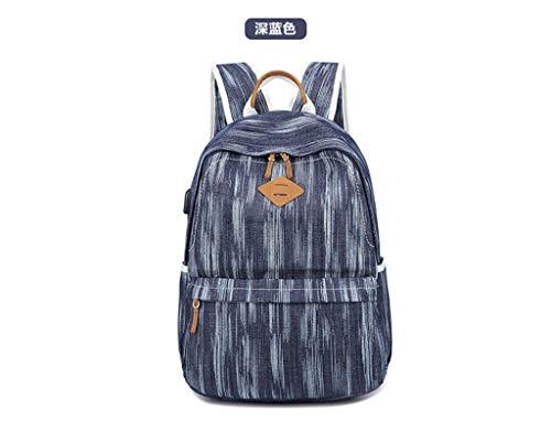 Fashion scuro tracolla Borsa Grigio a donna Blu tela Navy borsa Borsa da a Nuova tracolla in UnCwwxOvqP