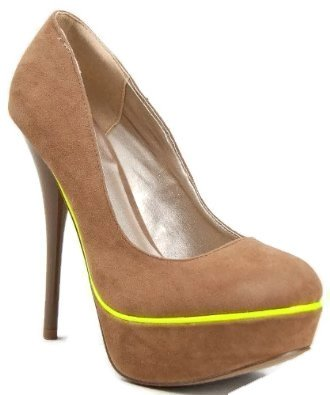 amazoncom neutral taupe velvet women glow high heel