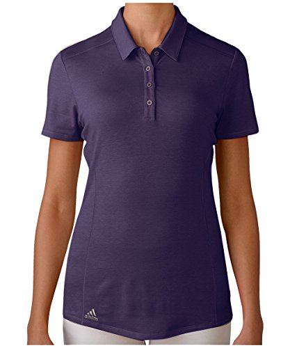 adidas Golf Women's Performance Polo T-Shirt, Purple, Medium (Polo Ladies T-shirts)