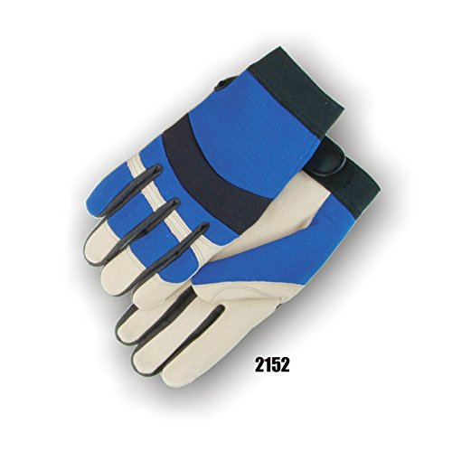 (12 Pair) Majestic PIGSKIN PALM GLOVES WITH KNIT BACK - 2X LARGE, BEIGE(2152/12)