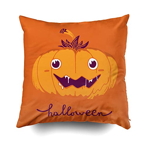 Musesh Pillow Case for Christmas, 20X20Inch Flat Style Design for Halloween Greeting Card, Poster, Web, Site, Banner Vector Halloween Throw Pillow Covers Cusion for Bed,Sofa,Car -