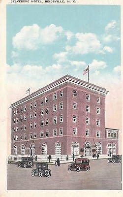 E2926 NC, Reidsville Belvedere Hotel Postcard