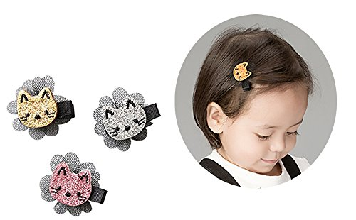 Hair Clips Tie Cat Design For Girls Kids Toddler Baby Party