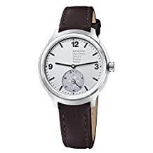 Mondaine Men's 'Helvetica' Quartz Stainless Steel and Leather Casual Watch, Color:Brown (Model: MH1B2S80LG)