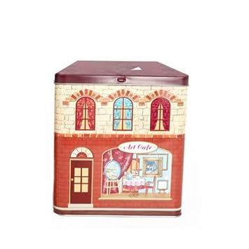 Keksdose Cookie Tin Küche Container Haus Form Mit Art Cafe Fenster