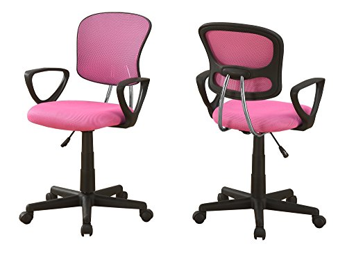 L&S Basics 10891 Office Chair - Pink Mesh Juvenile / Multi-Position by L&S Basics