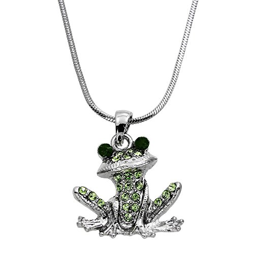 Enameled Frog Pendant - DianaL Boutique Frog Pendant Necklace with 18