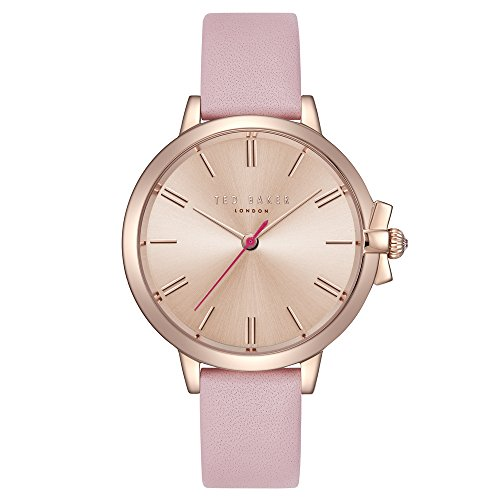 Ted Baker Women's Ruth Stainless Steel Quartz Watch with Leather Strap, Pink, 13.3 (Model: TE50267005) (Best Affordable Designer Watches)