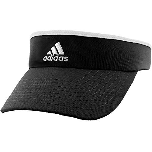 adidas Women's Match Visor, Black/White, One Size