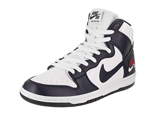 NIKE Men's Dunk High Pro SB Skate Shoe Future Court 854851-441 Obsidian/White