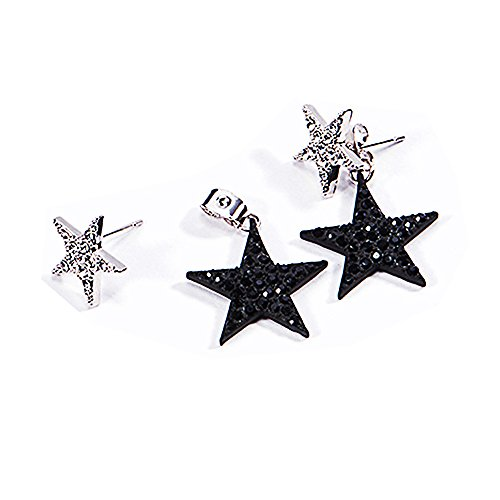 Star Earrings Drop Dangle Earrings Anchilly Eardrops studs Crystal Pave Piercing Earrings - Pave Star Earrings
