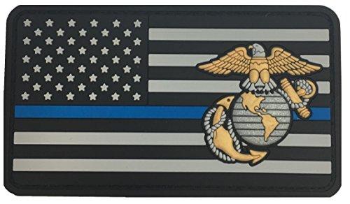 - Saber Torch USMC EGA Flag Blue LINE
