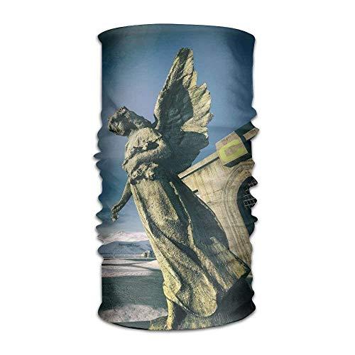 Gray Angel Statue Unisex Fashion Quick-Drying Microfiber Headdress