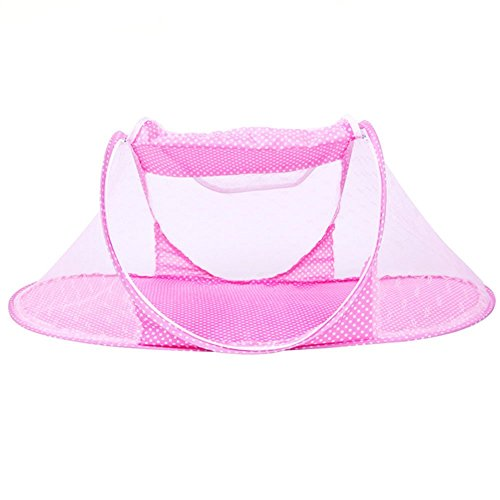 CdyBox Portable Travel Baby Tent Pop Up Playpen Instant Mosquito Net (Pink)