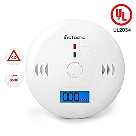 Carbon Monoxide Gas Detection,CO Detector Alarm LCD Portable Security Gas CO Monitor,Battery Powered,Alarm Clock Warning (9V Battery not Included) ...