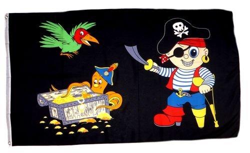 Fahne / Flagge Pirat Party Kinderpirat NEU 90 x 150 cm