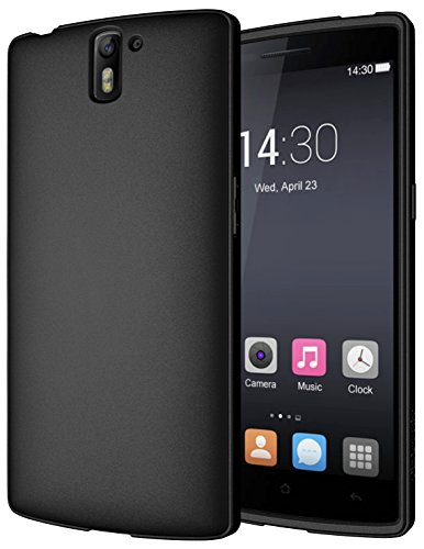 Diztronic Full Matte Black Flexible TPU Case for OnePlus One - Retail Packaging