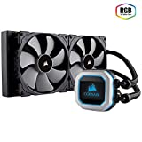 CORSAIR HYDRO SERIES H115i PRO RGB AIO Liquid CPU Cooler, 280mm Radiator, Dual 140mm ML Series PWM Fans, Advanced RGB Lighting and Fan Software Control