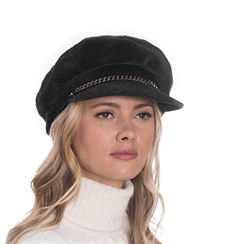 Eric Javits Luxury Fashion Designer Women's Headwear Hat - Thames Cap - Black by Eric Javits