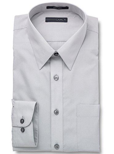 Damon Big and Tall Ultra Poplin Dress Shirt | Glacier Grey 22 x 38/39 Tall