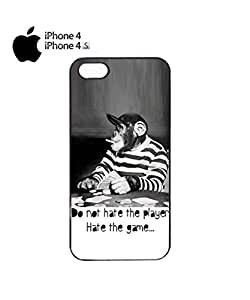 Lmf DIY phone caseMonkey Playing Card Game Mobile Cell Phone Case Cover iPhone 4&4s WhiteLmf DIY phone case