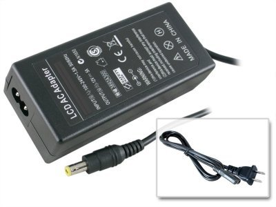 Intocircuit LCD 60W 12V 5A Adapter Charger for Benq LCD Monitors: (12 Volt 5 Amp)