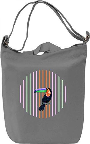 Toucan Borsa Giornaliera Canvas Canvas Day Bag| 100% Premium Cotton Canvas| DTG Printing|