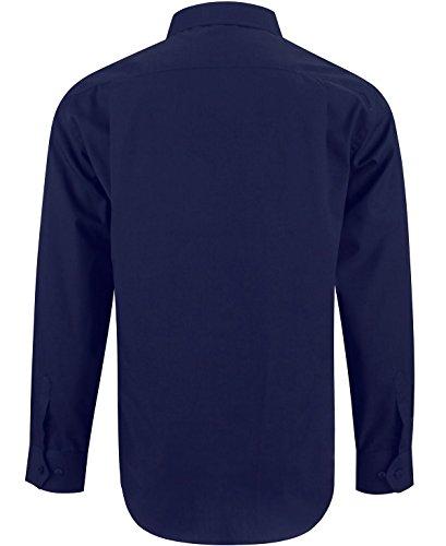 Navy maniche Classic Camicia Uomo lunghe alla unita tinta Xxl con Fit Blu Enzo Regular dalla S rHZx8Erqf