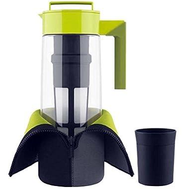 Takeya 2 Qt. Flash Chill Tea Maker Set of 1 water pitcher, Green, 3.7 x6.2 x12.4