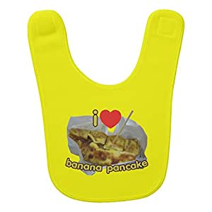 Zazzle I Love (heart) Banana Pancake ... Thai Street Food Bib