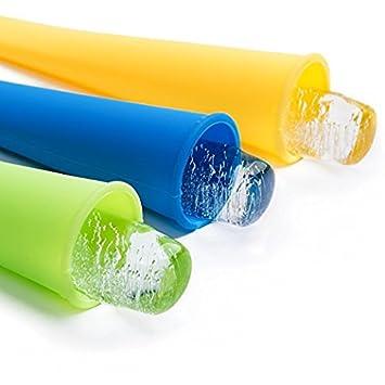 Vancool Set de 12 Moldes helados silicona ice mold Con Tapas, Seguridad, No tóxico, 6 Colores