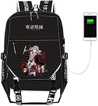 Anime Tokyo Ghoul Kaneki Ken Canvas Backpack Casual Travel Bag Laptop Rucksack