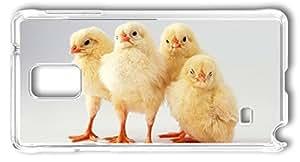 DIY Hard Shell Transparent Samsung Galaxy Note 4 Case Best Designed Chicken Little