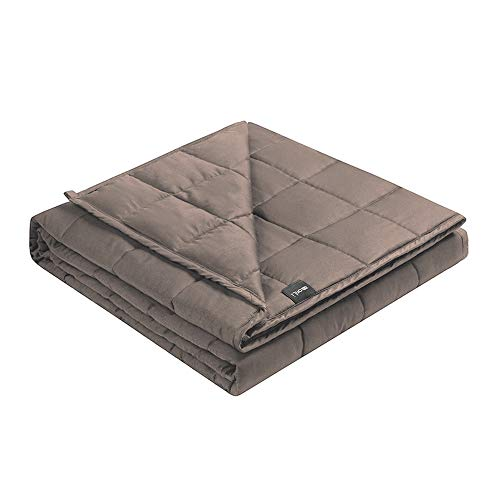 Cheap ZonLi Cooling Weighted Blanket 12 lbs(48 x72 Grey Twin) Summer Bamboo Weighted Blanket for Adult 100% Bamboo Viscose with Glass Beads Black Friday & Cyber Monday 2019