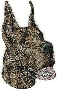 VirVenture Great Dane Brindle Dog Breed Embroidery Patch Great for Hats, Backpacks, and Jackets.