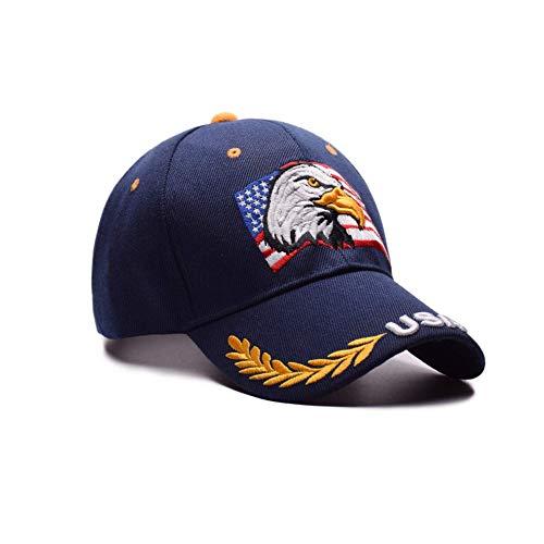 American Flag Eagle Embroidery Baseball Cap Outdoor Leisure Sun Visor Hat (Embroidery Eagle Flag)