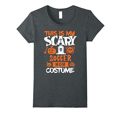 Womens Soccer Mom Scary Halloween Costume Party T-Shirt Medium Dark Heather for $<!--$17.99-->