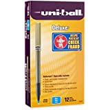 uni-ball Deluxe Micro Point Roller Ball Pens, Blue (60027)