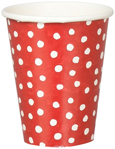 Entertaining with Caspari 9500CP Paper Cups, Pack of 8, Small Dots (Dots Holiday Photo Card)