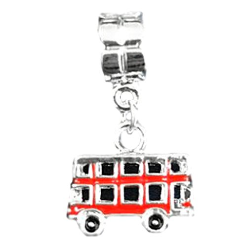 Charm Buddy Red Double Decker London Bus Routemaster Pendant Charm Fit Pandora Style Bracelets