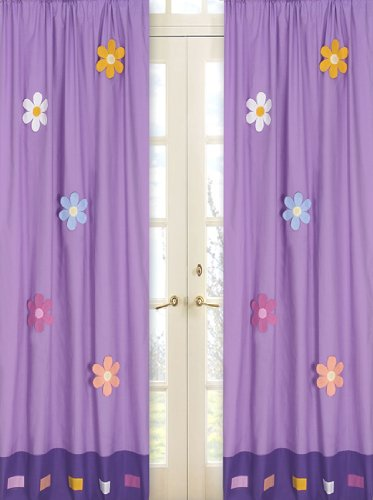 (Sweet Jojo Designs 2-Piece Danielle's Daisies Window Treatment Panels)